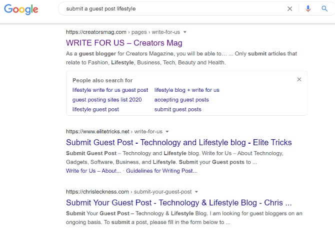 searching for guest blogging platform