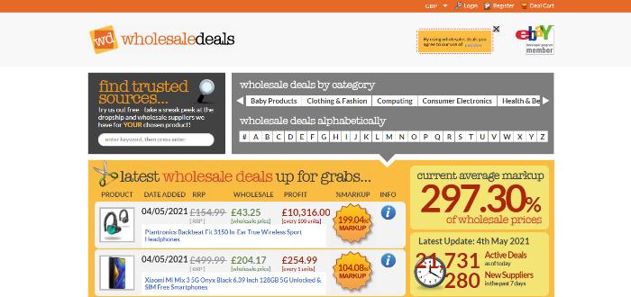 wholesale deals dropshipping uk supplier