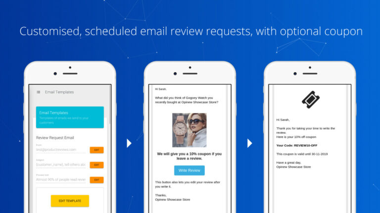 Opinew Shopify app screenshot 2