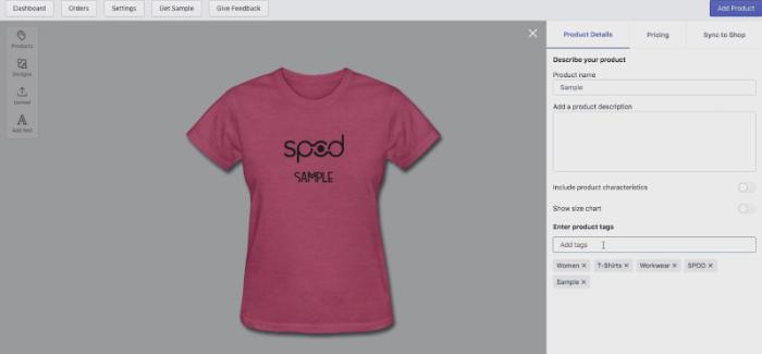 choose a premade sample or upload your own design