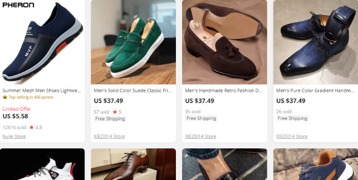 choose a product from aliexpress dropshipping website