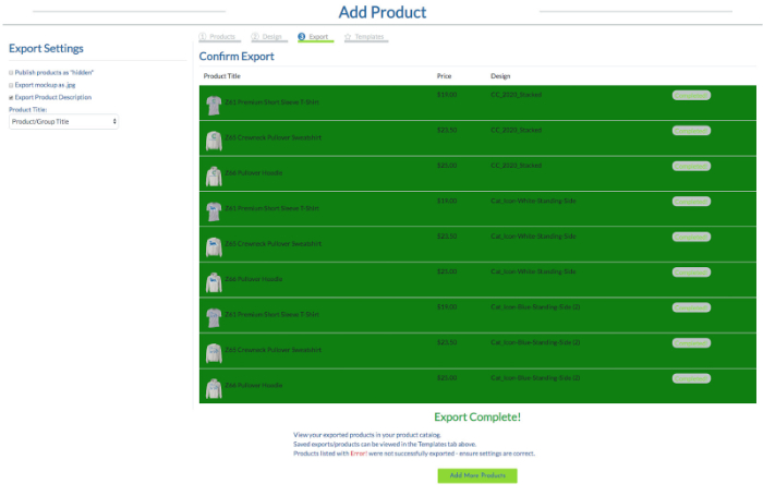 click confirm and save the product with customcat print on demand shopify app