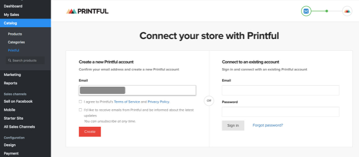 connect your store with printful