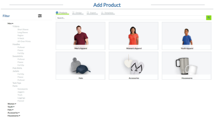 customize products with customcat print on demand shopify app