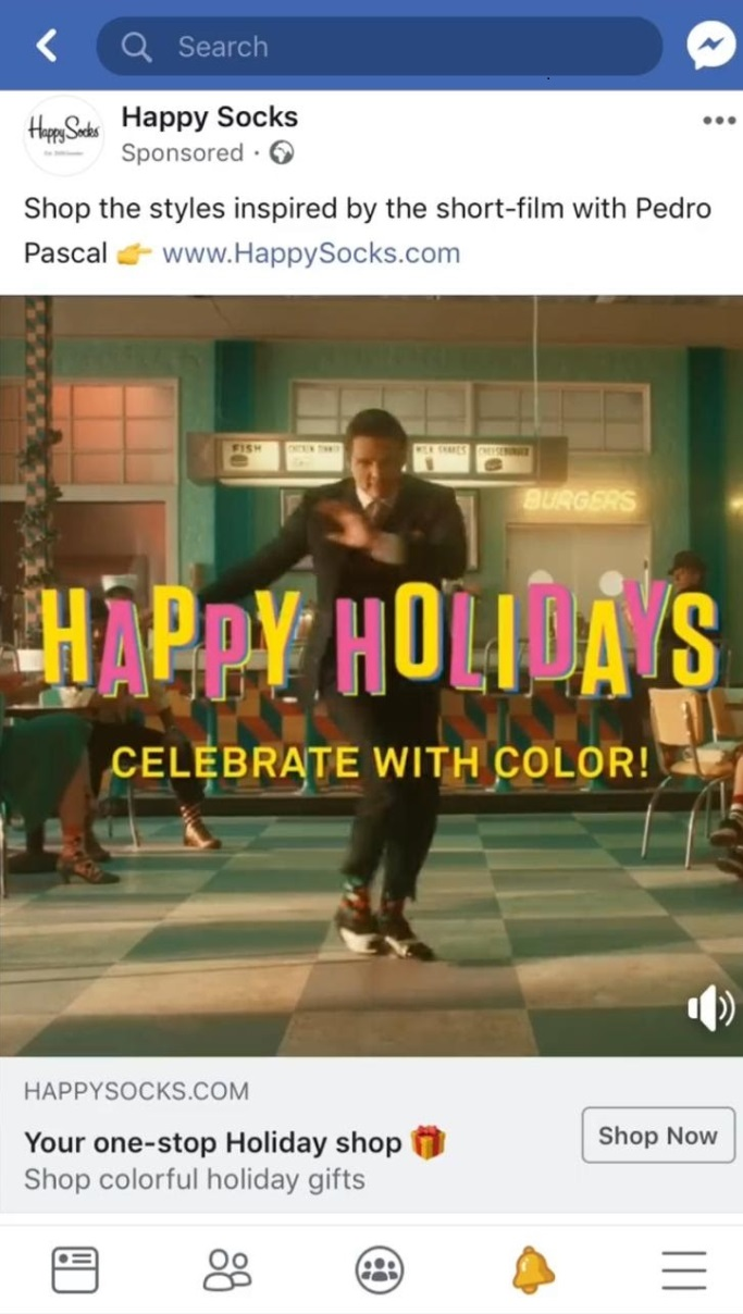 happy socks facebook ad