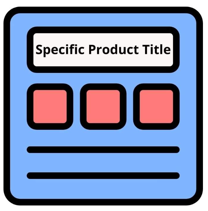make the product title specific