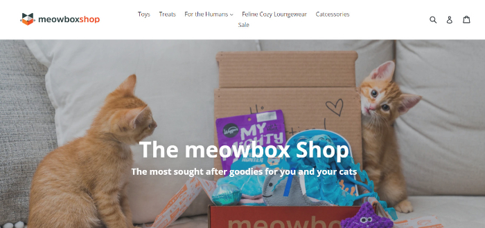 meowbox landing page