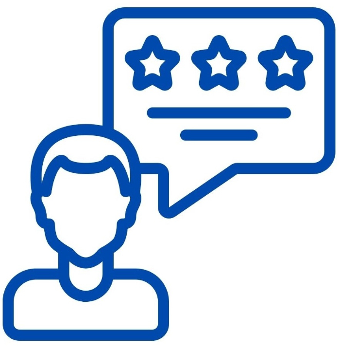show testimonials and reviews to gain trust