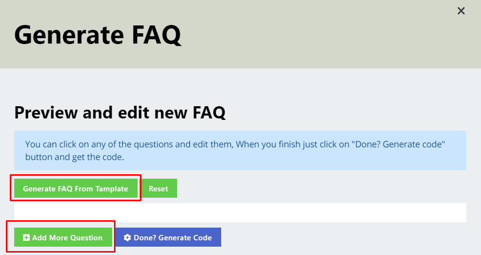 You get 2 options to generate FAQ page for your eCommerce business