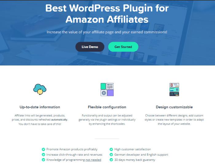 aawp is a great amazon affiliate wordpress plugin