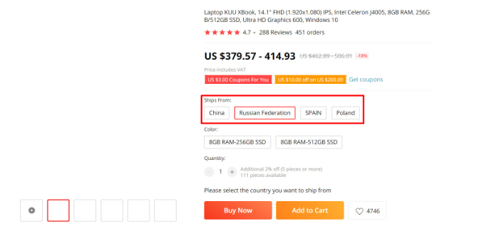 aliexpress long shipping times due to location
