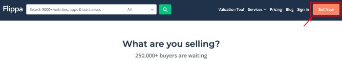 click on sell now button