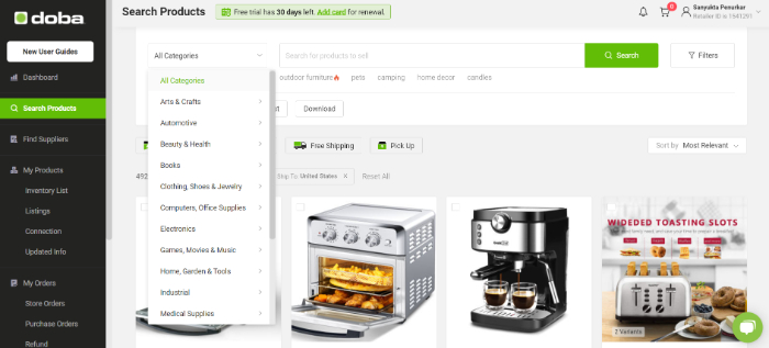 product niches in doba dropshipping