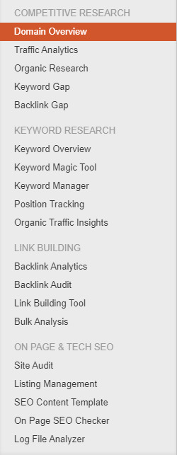 search engine optimization on semrush