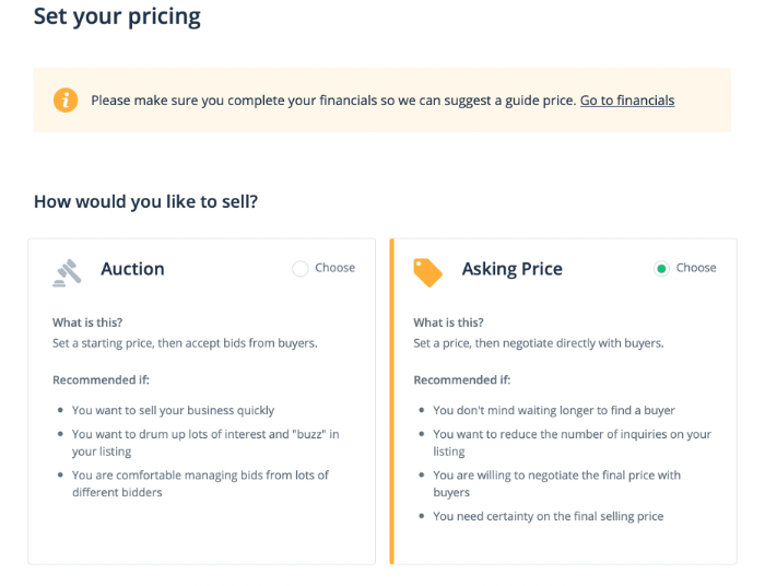 set your pricing